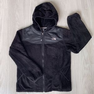 The North Face hooded Sherpa zip up girls XL